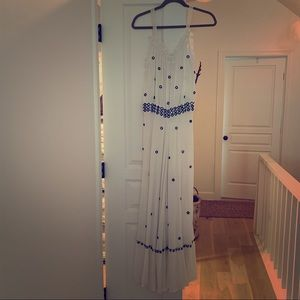 Leifnotes Anthropologie White Dotted Dress NWT!